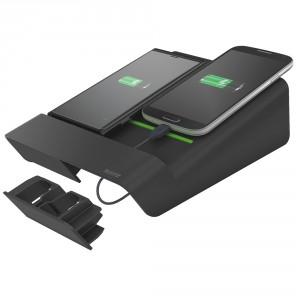 Oplader Duo Leitz Complete t/ mobile enheder Sort