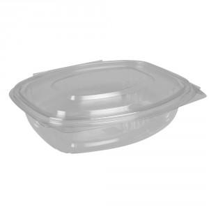 Salatboks PET m/låg 750ml oval glasklar pk/50