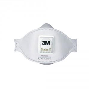 Filtermaske 3M 9322+ FFP2D m/ventil pk/10 stk