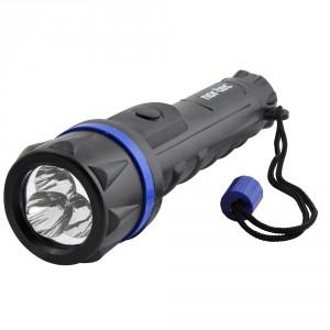 Lygte Nor-Tec LED medium Sort/blå gummibelagt