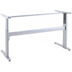 Hæve-/sænkebord stel Alu bredde 152 cm